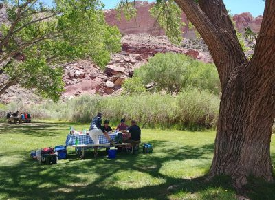 Capitol Reef National Park, Fruita tour group picnic
