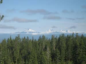 Volcanic Cascade Mountain Range