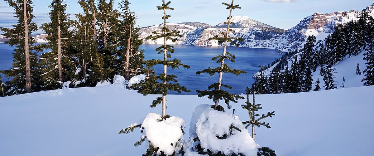 Crater Lake winter view