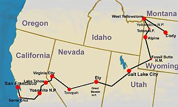 Yellowstone Karte.Karte Wild West Yellowstone Reise