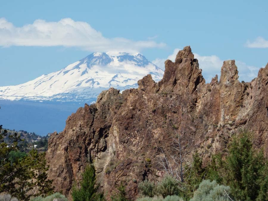 View of Mount Hood, from Central Oregon