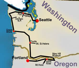 Route Map: Northwest Now Tour