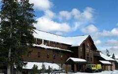 Yellowstone Winter Snow Lodge at Old Faithful