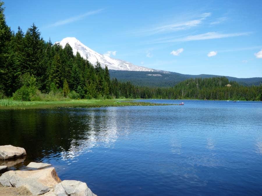 Mount Hood overlooking Trillium Lake