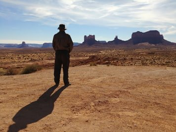man in canyonlands