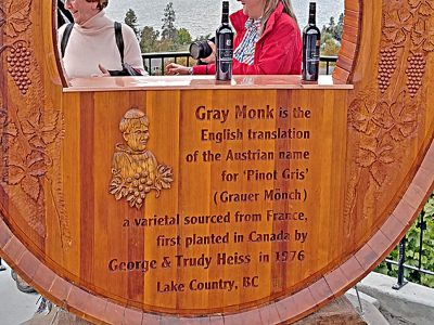 Grey Monk wine tasting