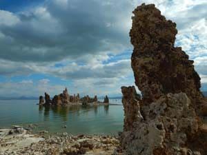 mineral spires in Mono Lake