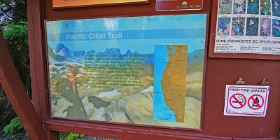 The start of the Pacific Crest Trail