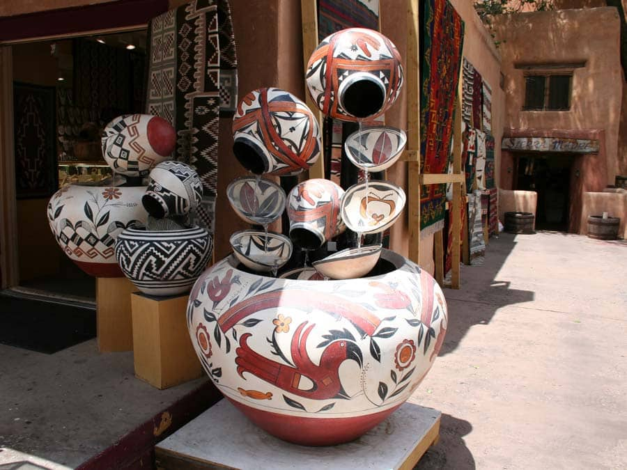 decorated clay pots