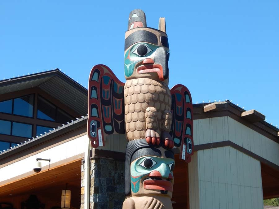 carved totem pole