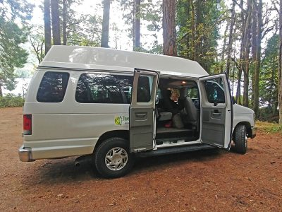 Our small group tour van